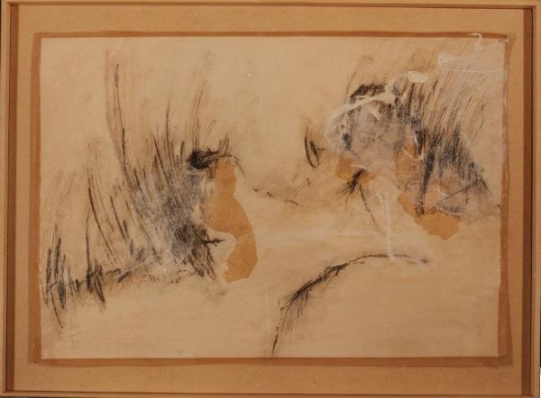 1990-Sans titre, papier, collages, acrylique, crayon, 0,65 x 0, 90 m
