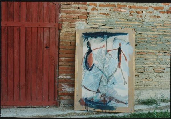1996- collages, acrylique, crayon, 1,03 x 0,70 m en situation